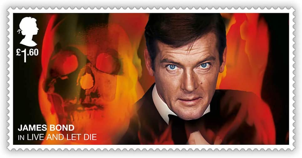 James Bond Framed Stamps