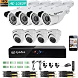 Eyedea 8 CH DVR Recorder Full HD 1080P 2.0MP 5500TVL Infrared LED Night Vision Video Surveillance CCTV Security Camera Remote View Theft Burglar Alarm System