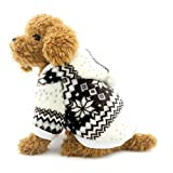 Ranphy Small Dog Sweater for Pets Dog Winter Coat Snowflake Fleece Hoodie Puppy Hooded Jumpsuit Doggy Apparel Brown M
