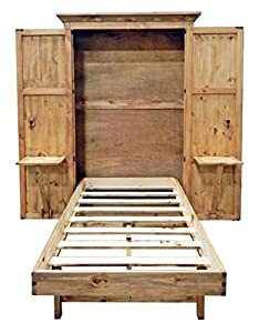 Solid Wood Hideaway Twin Bed Murphy Guest Bed