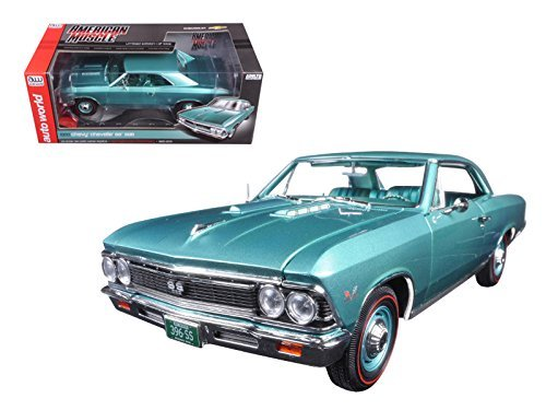 AUTO WORLD 1:18 AMERICAN MUSCLE - 1966 CHEVROLET CHEVELLE SS 396 - MUSCLE CAR & CORVETTE NATIONALS AMM1090