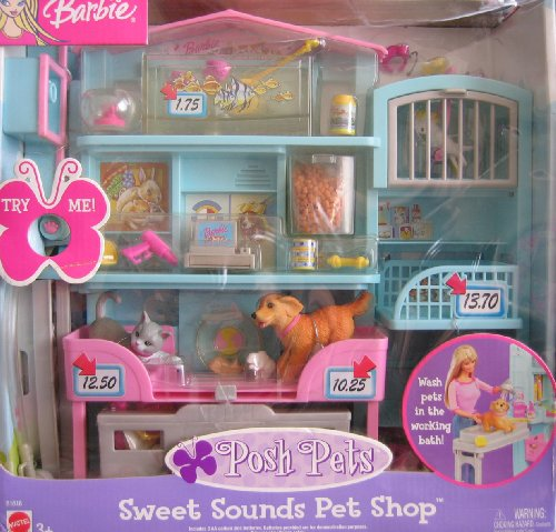Barbie Posh Pets Sweet Sounds Pet Shop Playset W Pet