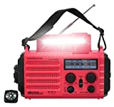 Weather Radio, Portable Emergency Solar Hand Crank