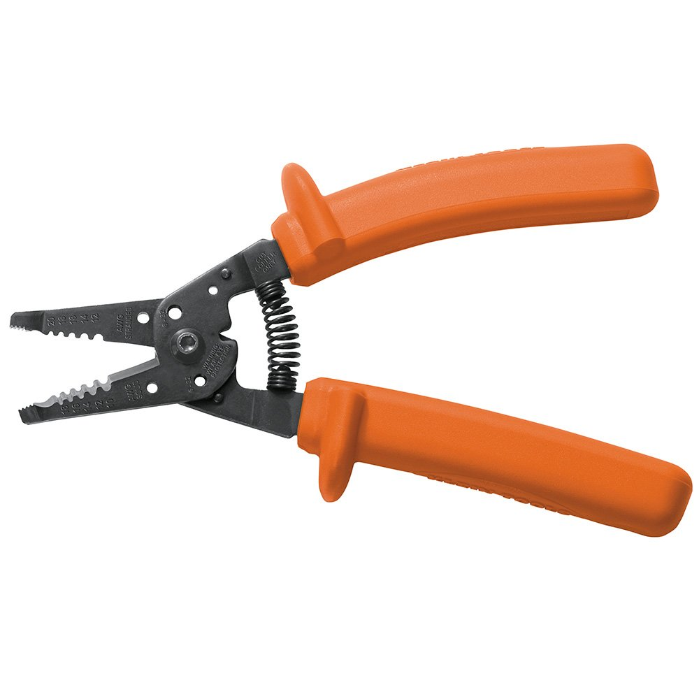 Klein 11055-INS Insulated Klein-Kurve Wire Stripper/Cutter (Orange) Klein Tools