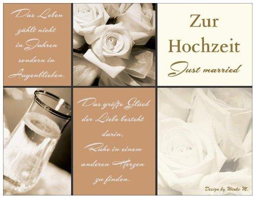 Hochzeitskarte Just Married Mit Weissem Umschlag 139mm X 107 Mm
