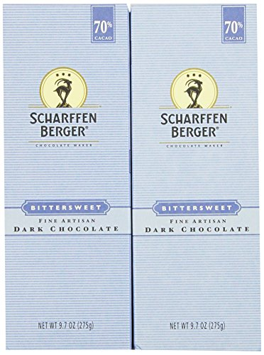 - Scharffen Berger Baking Bar, Bittersweet Dark Chocolate (70% Cacao), 9.7-Ounce Packages (Pack of 2)