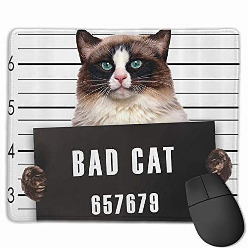 - MSSPD Bad Gang Cat Gaming Locking Mouse Pad,Customized Rectangle Non-Slip Rubber Mousepad Gaming Mouse Pad