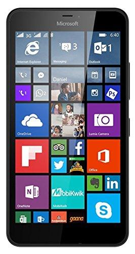Lumia 640 XL Windows 8.1 Smartphone with 13MP Camera, 4G LTE 8GB, 5.7-Inch, Black Unlocked (Certified Refurbished)