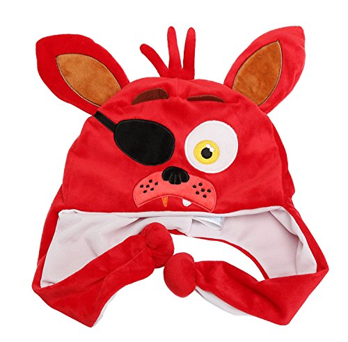 Mangle Five Nights At Freddy's Costume (Granny's Best Deals (C) Five Nights at Freddy's Plush Red Foxy Hat for Kids-Brand New!)