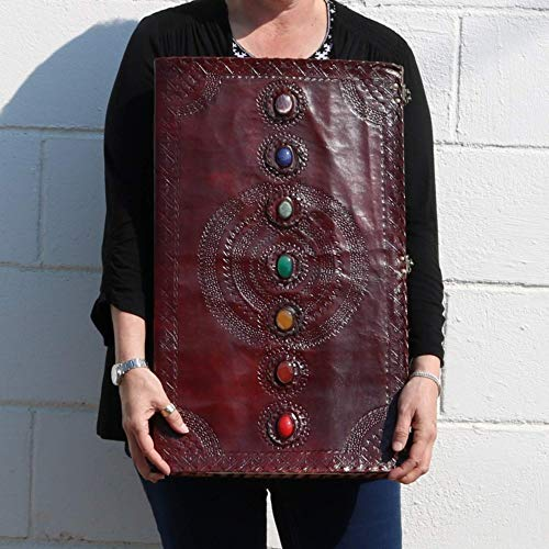 Seven Stone Leather Journal Handmade Notebook Unlined Blank 240 Pages 13 1/2 X 22 inches by  (Image #6)