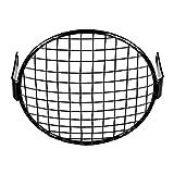 6 1/2'' Wire Mesh Headlight Mask Grille Cover Black Halogen Stone Guard for Cafe Racer Bobber