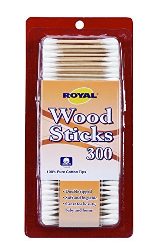 Wood Stick Cotton Safety Swab (300 Count)