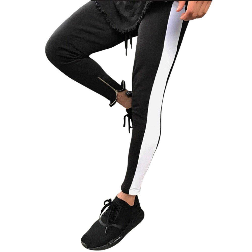 FRAUIT Pantalones para Hombre, Pantalones de Chándal Rayas Sueltos ...