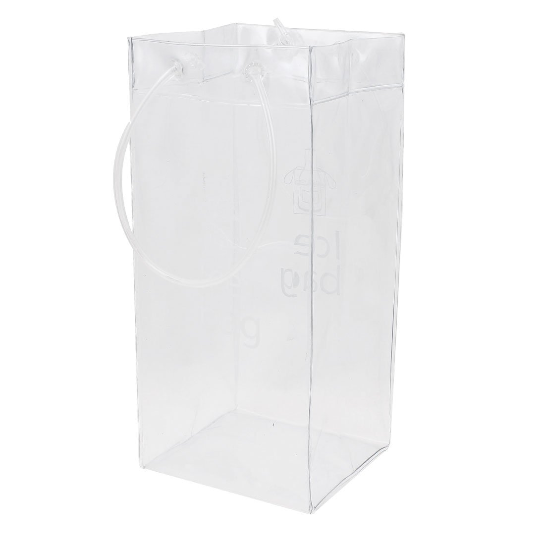 PVC Champagne Drink Wine Beer Bottle Ice Bag Chiller Cooler Clear uxcell a15032400ux0019