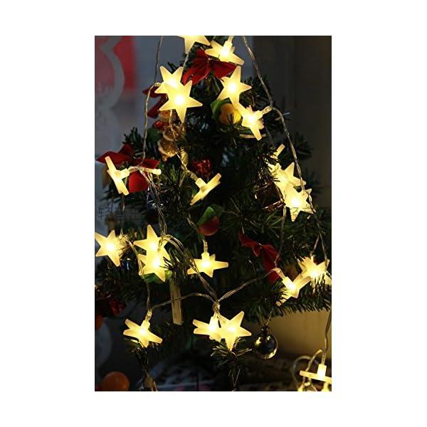 Uping Stringa di Luci, Catena Luminosa, 30 LED Stelle, 4,65 Metri, Decorativa da Interni e Esterni, anche per Festa, Giardino, Natale, Halloween, Matrimonio 4 spesavip