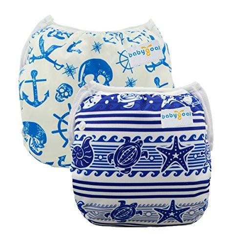 babygoal Reusable Swim Diapers, One Size Adjustable