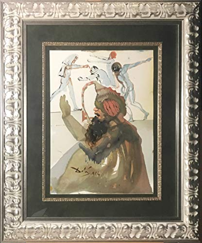 Framed Salvador Dali Lithograph Biblia Sacra: Joseph Et Fratres In Egypto (Joseph and His Brother in - Dali Signed Lithographs