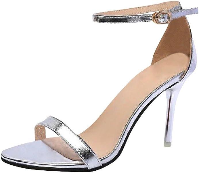 c594c1eced16c Sandales Compensees Femme Noires ELECTRI Sandale Femmes Chaussures  Paillette Travail Talon Haut Soiree Compenses Bout Pointu Pompes Slip on  Confortable