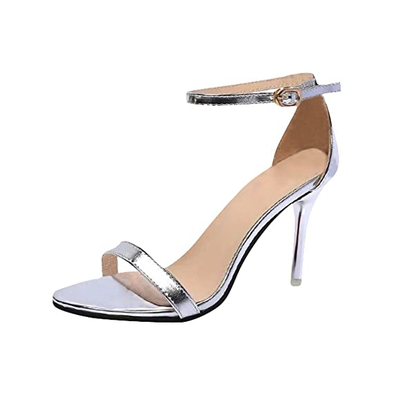LANSKRLSP Scarpe Scarpe col Tacco Donna Argento 76e1451125a