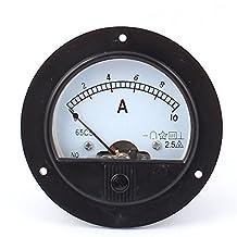 DC 0-10A Round Panel Meter Gauge Current Analogue Analog Ammeter