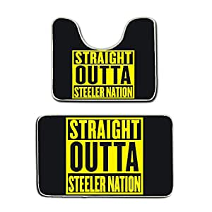 Amazon Com Us Tang Bath Mat Straight Outta Steeler Nation