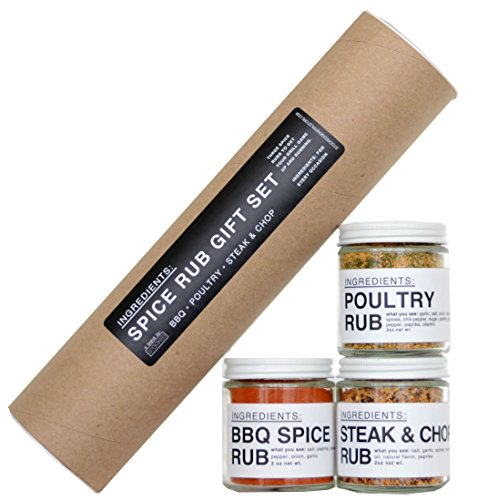(Ingredients: Spice Rub Gift Set - BBQ - Poultry - Steak & Chop)