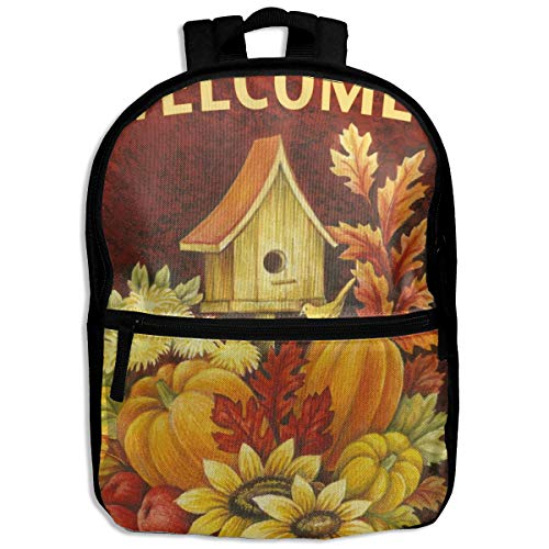 - Kids Backpack Fall Birdhouse School Hiking Travel Shoulder Bag Small Daypack For Boys Girls