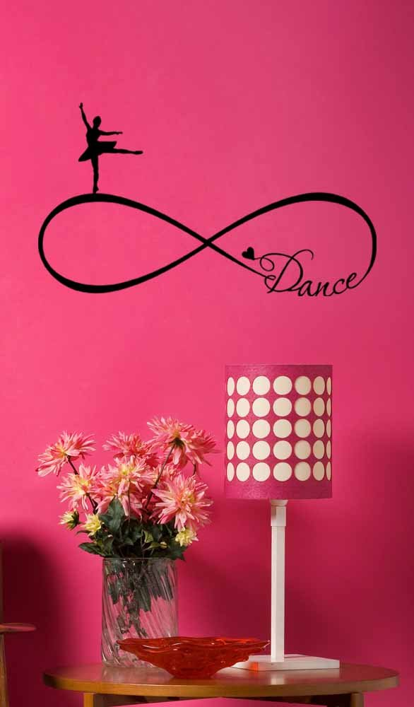 Wall Decal Ballet Dance forever Love Infinity Symbol. Vinyl Wall quote inspirational saying lettering stencil rhythm art sticker wall decor
