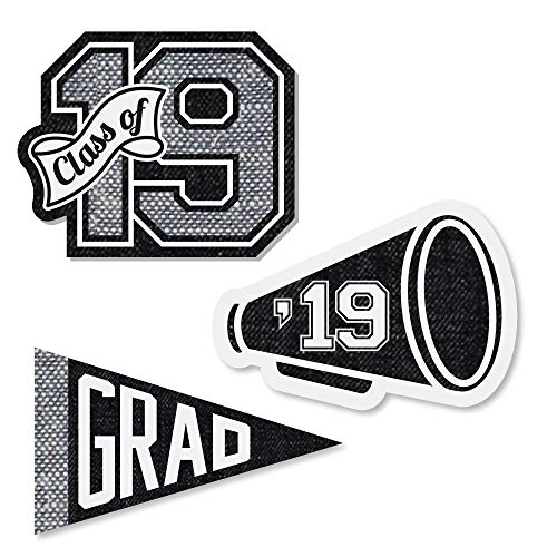 Big Dot of Happiness All Star Grad - DIY Shaped 2019 Graduation Party Cut-Outs - 24 -