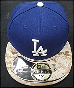 Los Angeles Dodgers On Field Baseball Cap Hat Camouflage 59Fifty Size 7 5/8