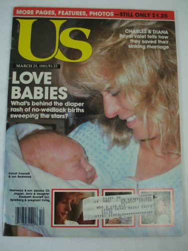 US Weekly Magazine March 25, 1985 Farrah Fawcett & Baby Son - Us Redmond