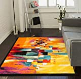 Champlain Multi is a perfect night on the lake that will never leave your memory. Brush stroke lines and abstract, geometric boxes describe a sunset, sparkling in the water. A warm, vibrant multi-colored palette makes this modern, cubist inspired pat...