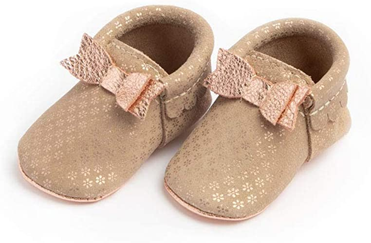Soft Sole Leather Bow Moccasins