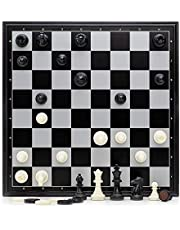 """12.6"""" Magnetic Folding Chess and Checkers Set / Suitable for Travel and Starters …"""