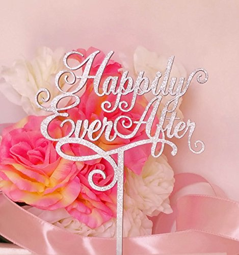 Happily-Ever-After-Wedding-Cake-Topper-A-Larger-Elegant-Heirloom-Quality-topper-JOLI-COLLECTION