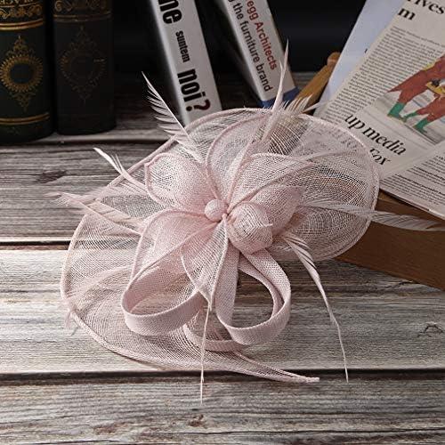 GEMVIE Damen Fascinators Hut Elegant Brauthut mit Feder Haar Clip Hut Tea Party Clip Haarschmuck