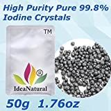 ShopIdea 50g Lemental Grade High Purity Pure Lodine Crystals for Lab Chemicals Experiment by ShopIdea