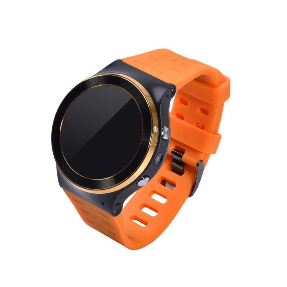 RTYou New S99 GSM 3G Quad Core Android 5.1 Smart Watch GPS WiFi Bluetooth 8GB (Orange)