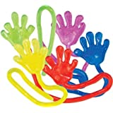 """72 Count Sticky Hands - Vinyl Glitter 1 1/4"""" - Perfect for Party Favors and Birthday Gifts"""