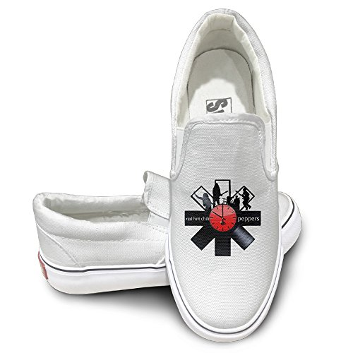 Cobain Red Hot Chili Peppers Unisex Slip-on Flat Canvas Shoes Sneaker 40 White - Funny Wrecking Ball Costume