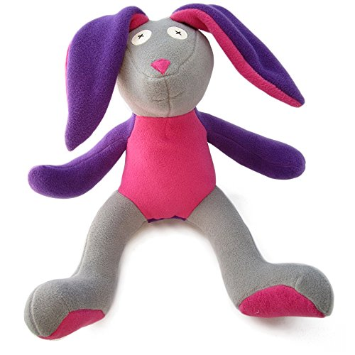 Cate and Levi 16 to 22 Handmade Softy Bunny Stuffed Animal (100% USA Polar Fleece)