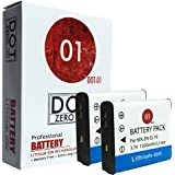 2x DOT-01 Brand Nikon A300 Batteries for Nikon A300 Digital camera and Nikon A300 Battery Bundle for Nikon ENEL19 EN-EL19
