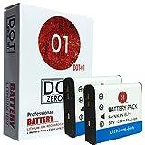 2x DOT-01 Brand Nikon A300 Batteries for Nikon A300 Digital camera and Nikon A300 Battery Bundle for Nikon ENEL19 EN-EL19