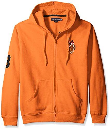 U.S. Polo Assn. Men's Long Sleeve Zip Front Hoody, Multi/Color Pony/Autumn Sunset, -