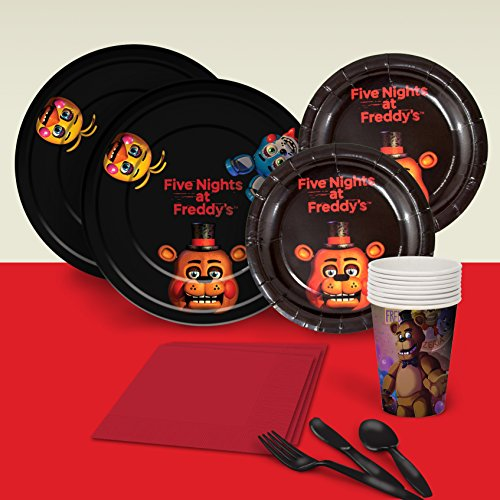 Halloween Five Nights at Freddy's Basic Party Pack for 8 Party Supplies Decorations Plates Napkins Cups Tableware -