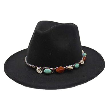14dda5908 Xiaojuan-hats, Women Men Felt Wool Fedora Hat with Tassel Bohemia ...