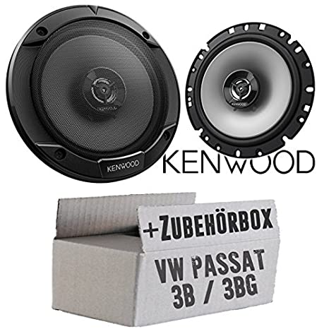JUST SOUND best choice for caraudio Kenwood KFC-E170P 16cm 2-Wege Lautsprecher Einbauset f/ür VW Passat 3B /& 3BG
