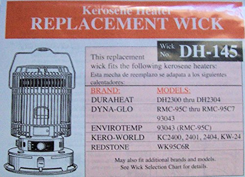 ''ABC Products'' - Original DuraHeat - Kerosene Replacement - Heater Wick - (Wick # DH-145 - Fits Many Kerosene Heaters - Check For Your Model Number Below)