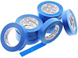 10 Rolls Premium 1'' in x 60 yd USA PRO Grade Professional Blue Painters Tape Masking Trim Edge Quick Clean Release Easy Removal NO RESIDUE (24MM x 55M .94 inch)