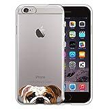 english bulldog iphone 6 case - FINCIBO Iphone 6 Plus Case, Clear Transparent TPU Silicone Protector Cover Soft Gel Skin For Apple Iphone 6 Plus 5.5 inch - English Bulldog